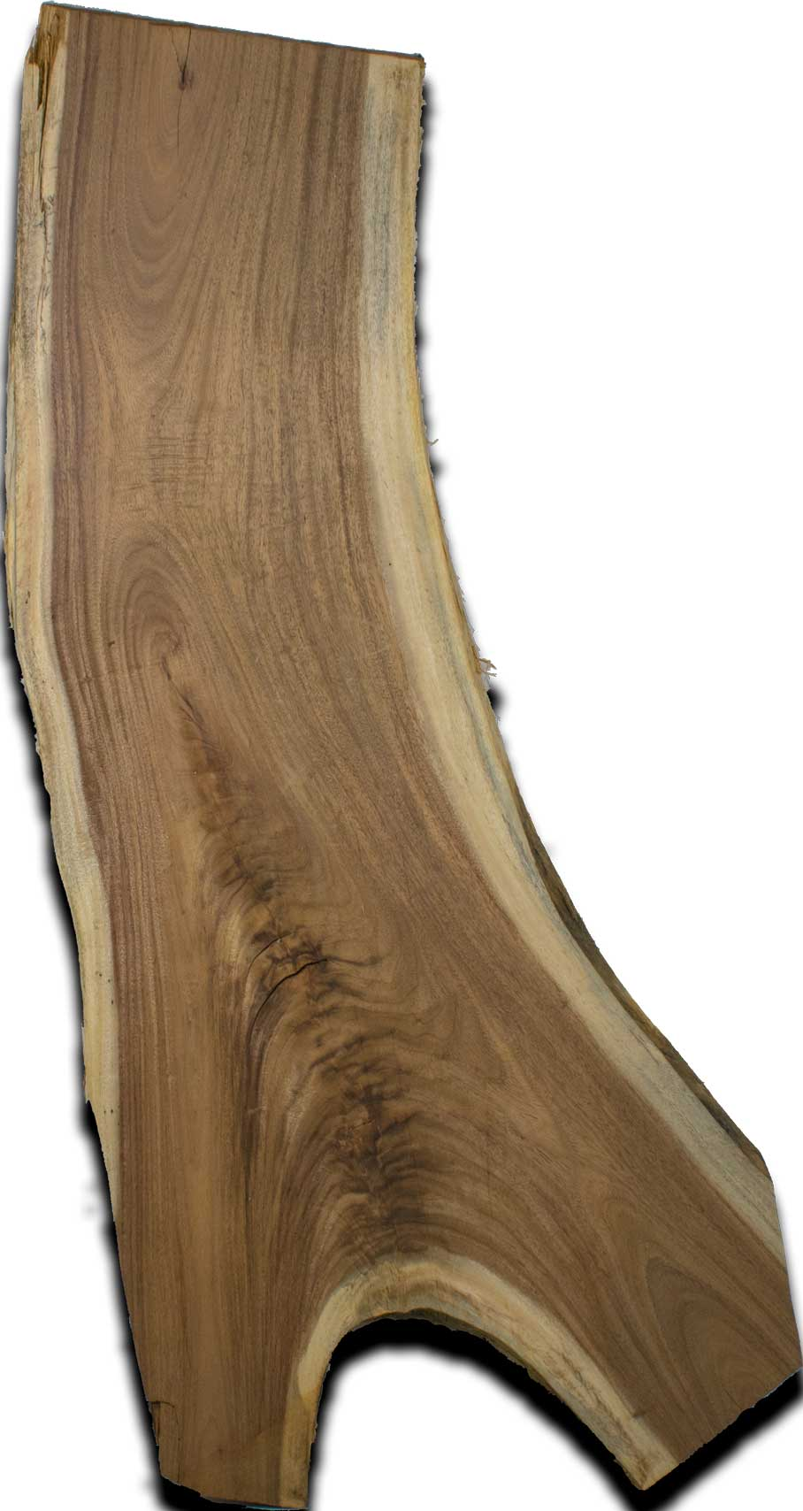 Albizia Live Edge Wood Slab