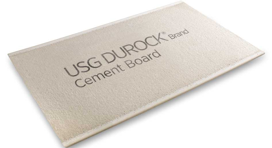 Durock 1 2 In X 4 Ft X 8 Ft Cement Board Tile Backer