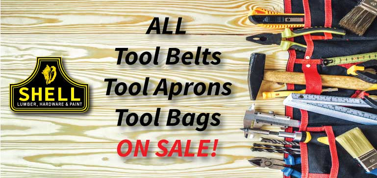 Great Savings on All Tool Belts / Aprons / Bags