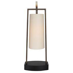 "Van Teal 631572 Mila 30.5"" Table Lamp Table Lamp, Modern Table Lamp, Contemporary Table Lamp, Caramel, Matte Black, Acrylic, Wheat,Ginger, Hardback Shade, Buff Linen, Linen Shade, Designer, Unique, Trendy"