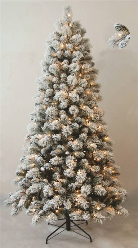 SANTAS FOREST HOLIDAY TREE 9FT CLEAR PRE LIT