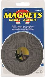 Master Magnetics 07019 Magnetic Tape Roll With Adhesive Backing, 10 ft L X 1 in W X 0.06 in T