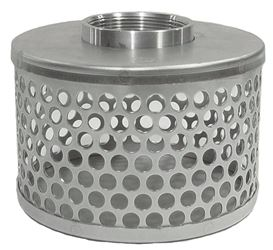 Abbott Rubber Company Srhs-200 Round Hole Hose Strainer, For Use With Pump Suction Hose, 2 In Fnpt, Plated Steel