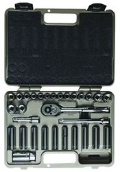 Crescent CTK30SET Mixed Length Socket Set, 30 Pieces, 3/8 in, 6, 12 Points
