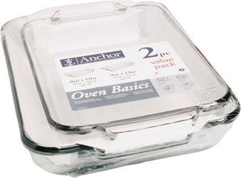 Anchor Hocking 82761obl11 Bake Dish Set, 2 Pieces - 2 Pack