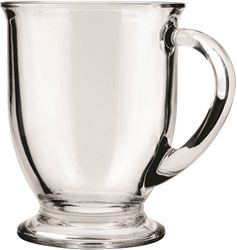 Anchor Hocking 83045a Mug 16oz Crystal Cafe - 6 Pack