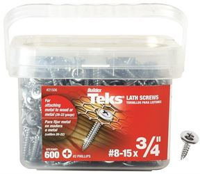 Teks 21506 Screw, No 8-15 X 3/4 In, Steel, Metallic