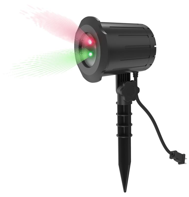 Prime Laser Light Show 2 Color (red And Green) W/power Stake - 4 Pack