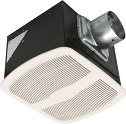 Air King AK80LS-1 Exhaust Fan, 120 VAC, 0.3 A, 28.1 W, 60 Hz, 80 cfm Air Flow, 975 rpm, 0.6 Sones, 7-7/8 in H x 11 in