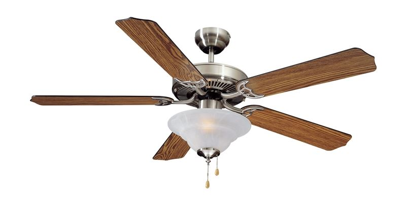 Boston Harbor 933853 Ceiling Fan Light Kit, 120 VAC, 60 Hz, 190 W, Candelabra, 2, 60 W Lamp, Brushed Nickel