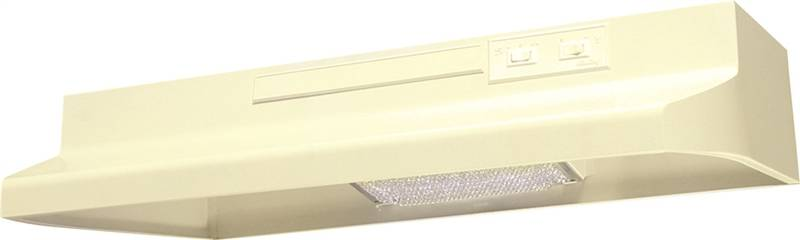 Air King Advantage AV AV1305 Under Cabinet Convertible Range Hood, 180 cfm, 3-1/4 X 10 in, Almond