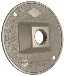 Bell Raco 5193-5 Round Cluster Cover, For Use with Weatherproof Boxes, Die Cast Zinc, Powder Coated