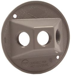 Bell Raco 5197-5 Round Cluster Cover, For Use with Weatherproof Boxes, Die Cast Zinc, Powder Coated