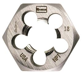 Irwin Industrial 7004  Hexagon Dies, Fractional, 3/8-18 Npt