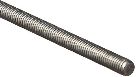 Stanley 179341 Threaded Rod, 7/16-14 x 1 ft, Steel, Zinc Plated