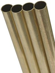K & S Engineering 1151 Round Brass Tube 5/16 Od - 4 Pack
