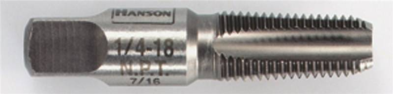 Irwin Industrial 1903Zr  Taper Pipe Taps, High Carbon Steel, 1/4-18 Npt