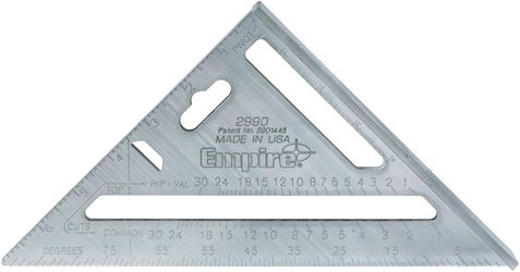 Empire Magnum 2990 Heavy Duty Rafter Square, 7 in, Aluminum