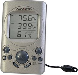AcuRite 00219CA Digital Thermometer With 10 ft Temperature Sensor Probe and Humidity, -58 TO 158 deg F, +/-2 deg F