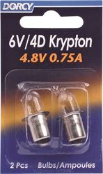 Dorcy 411663 Replacement Krypton Lamp, 4.8/6 V