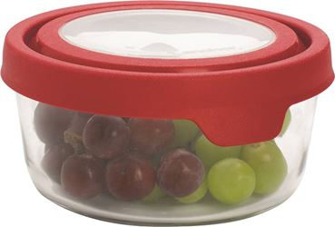 Anchor Hocking 91845 Food Container Rnd 4cup - 4 Pack