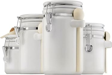 Anchor Hocking 03806wmr Canister Wht Crmc 4pc - 2 Pack