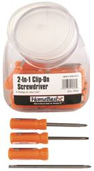 BOSTON HARBOR 2-N-1 CLIP-ON SCREWDRIVER 30PC