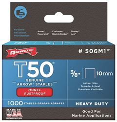 ARROW FASTENER 506M1-STAPLES T50 MONEL 3/8