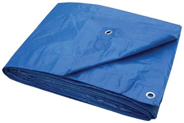 ProSource 2571602 Light Duty Tarp with Aluminum Grommets, 10 ft L x 8 ft W, 6 x 7 in Mesh, Polyethylene