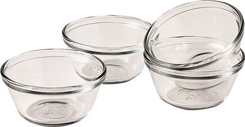 Anchor Hocking 81672l11 Custard Cup, 6 Oz, Glass, Clear - 4 Pack