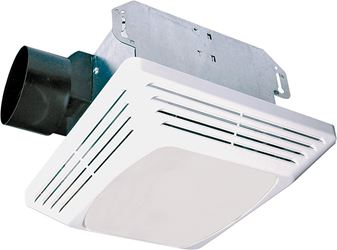 Air King Advantage ASLC50 Decorative Exhaust Fan/Light Combo, 100 W, 120 V, 1.4 A, 50 cfm