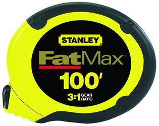 FatMax 34-130 Measuring Tape, 100 ft L X 3/8 in W, Stainless Steel