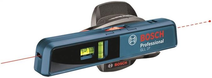 Bosch GLL 1P Manual Leveling Line and Point Laser Level, 3/16 in at 33 ft, 16 ft, AAA Battery, Plastic/Metal
