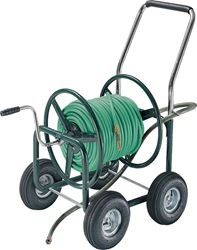 Ames Estate High Capacity Hose Wagon, 5/8 in X 400 ft Hose, 24 in W x 30 in D x 36 in H, Steel