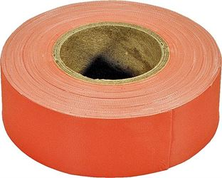 Strait Line 65602 Non-Adhesive Flagging Tape, 1-3/16 in W X 150 ft L X 2 mil T, PVC