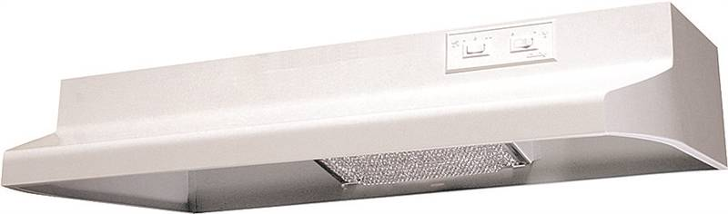 Air King Advantage AR AR1303 Under Cabinet Round Duct Range Hood, 180 cfm, 7 in, White