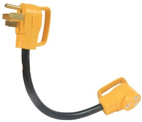 Power Grip Rv 55173 Bilingual Dogbone Electrical Adapter, 125 V, 50 A Male to 30 A Female, 3750 W