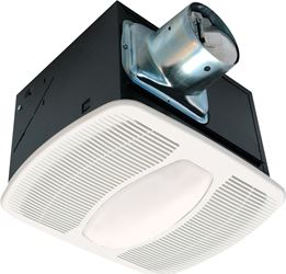 Air King AK100L Exhaust Fan, 0.6 A, 27.8 W, 115/120 V, 60 Hz, 2.5 Sones, 984 rpm, 100 cfm, Polymeric Grill