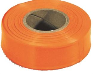 Strait Line 65902 Non-Adhesive Flagging Tape, 1-3/16 in W X 300 ft L X 2 mil T, PVC