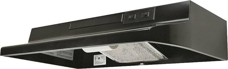 Air King Advantage AV AV1306 Under Cabinet Convertible Range Hood, 180 cfm, 3-1/4 X 10 in, Black