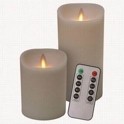 VERAFLAME CANDLE IVORY REMOTE 2PK COMBO