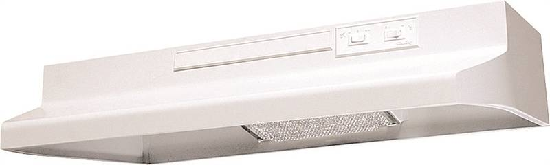 Air King Advantage AV AV1303 Under Cabinet Convertible Range Hood, 180 cfm, 3-1/4 X 10 in, White