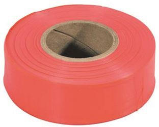 Strait Line 65601 Non-Adhesive Flagging Tape, 1-3/16 in W X 150 ft L X 2 mil T, PVC