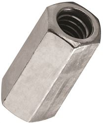 Stanley 182667 Coupling Nut, 1/4-20, Steel, Zinc Plated