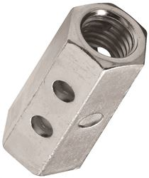 Stanley 182709 Coupling Nut, 1/2-13, Steel, Zinc Plated