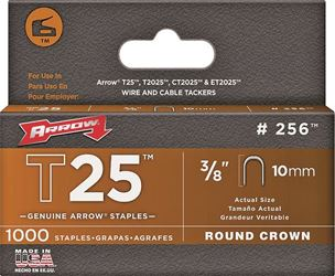 Arrow Fastener 256  Staples, 3/8 Inch