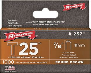 Arrow Fastener 257  Staples, 7/16 Inch
