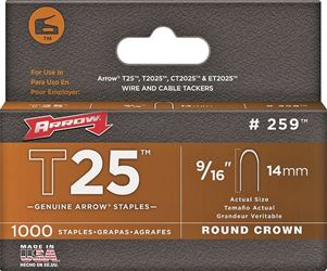 Arrow Fastener 259  Staples, 9/16 Inch
