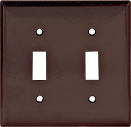 Arrow Hart Eagle 2139 Standard Wall Plate, 2 Gang, 4-1/2 in L x 4.56 in W x 0.08 in T, Brown