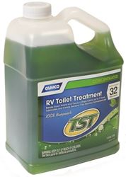 Camco 40227 Non-Corrosive Ultra Concentrated RV Toilet Treatment, 1 gal, Bottle, Transparent Green, Liquid-á